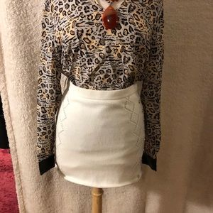 NWT CATHERINE MALANDRINO Knit mini Skirt